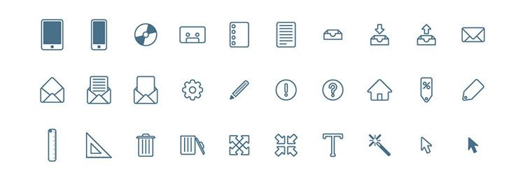 100 free icons in PSD, AI  and Webfont formats by Piotr Makarewicz