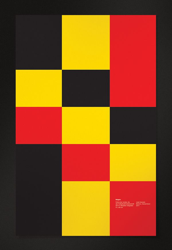 Belgium minimal poster world cup 2014