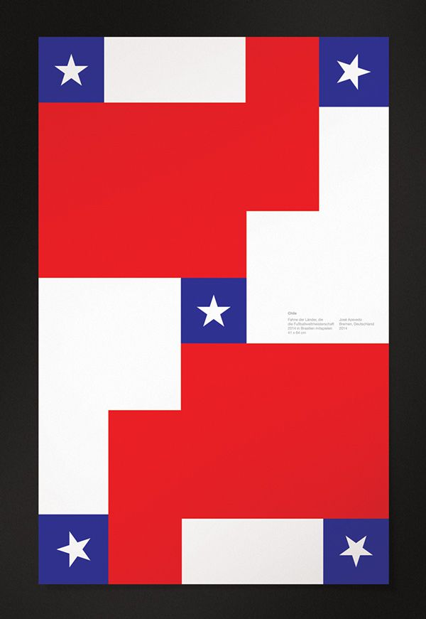 Chile minimal world cup posters 2014 brazil
