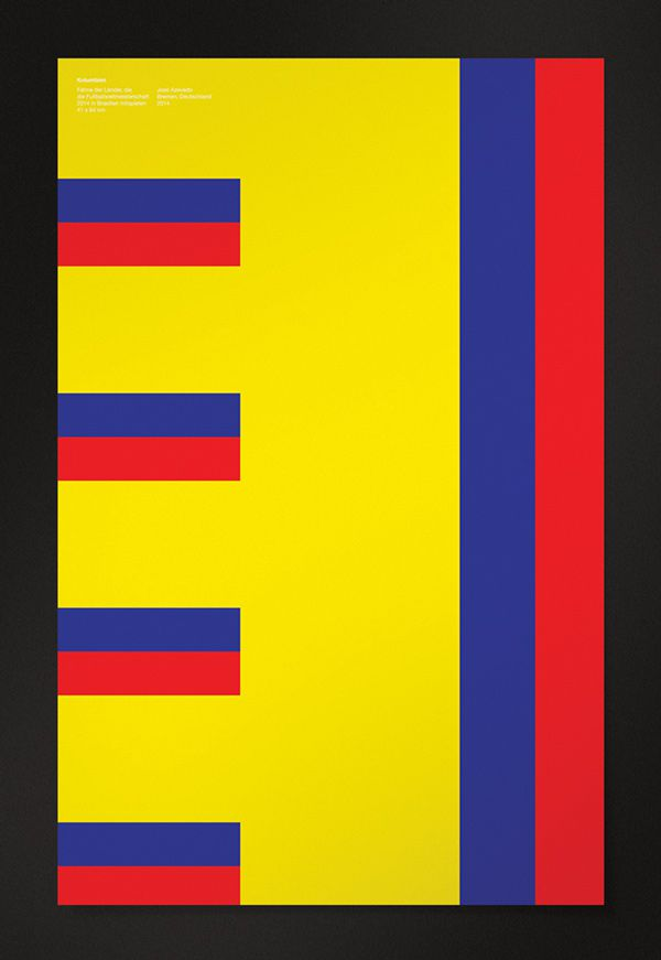 Colombia minimal poster world cup 2014