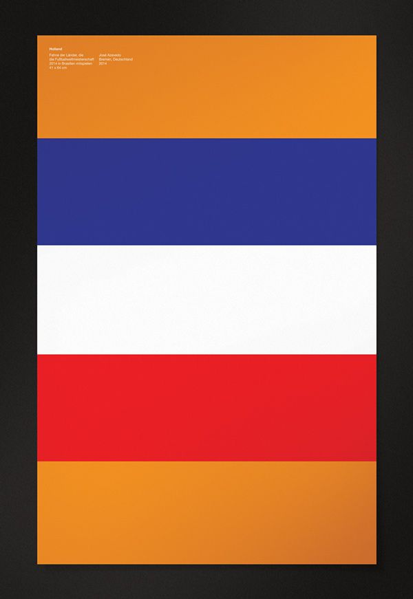 Holland minimal poster world cup 2014
