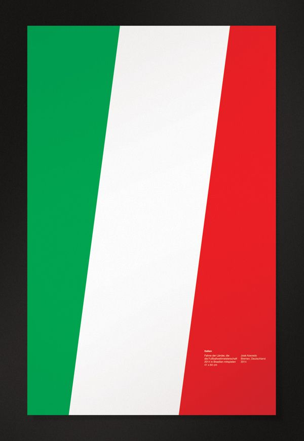 Italy minimal world cup posters 2014 brazil