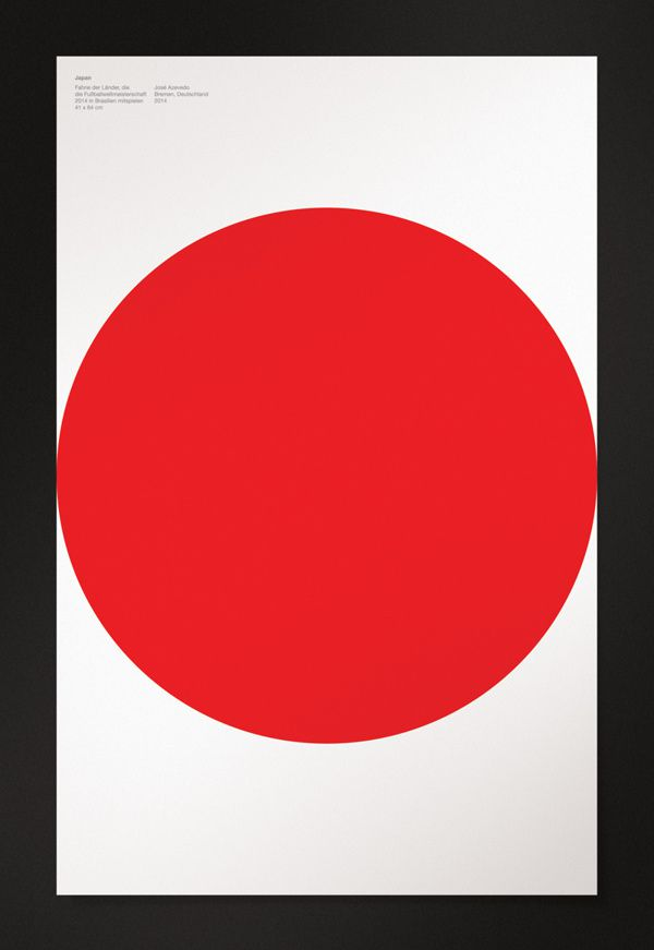japan minimal poster world cup 2014