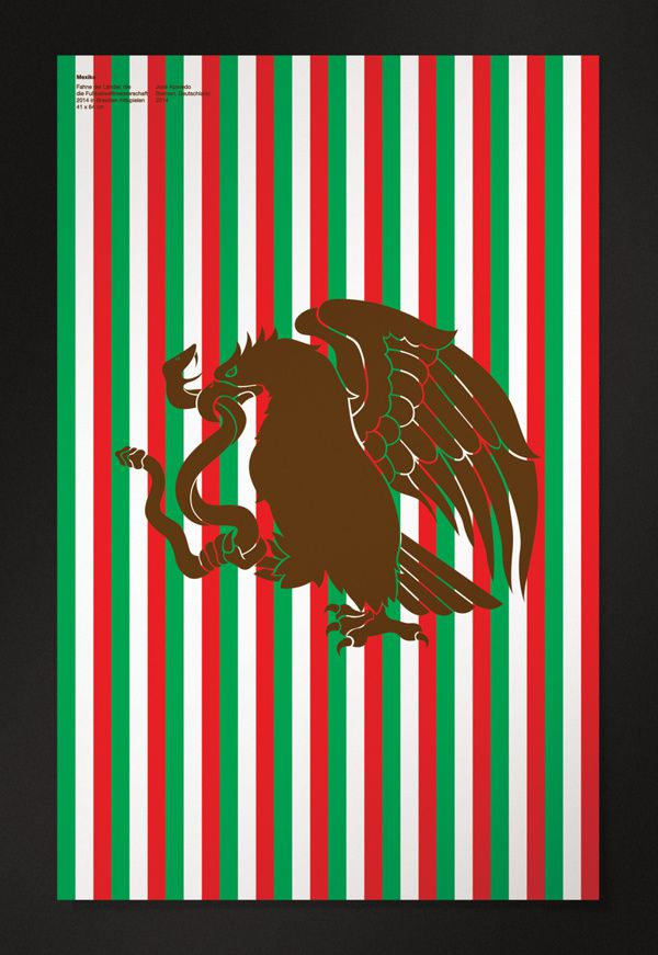 mexico minimal poster world cup 2014