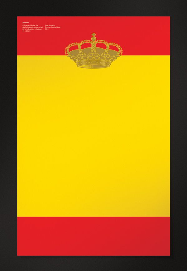 Spain World Cup Posters flat 2014 brazil