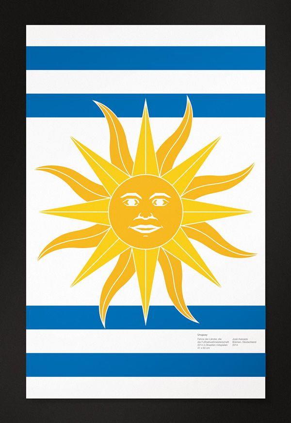 uruguay World Cup Posters flat 2014 brazil