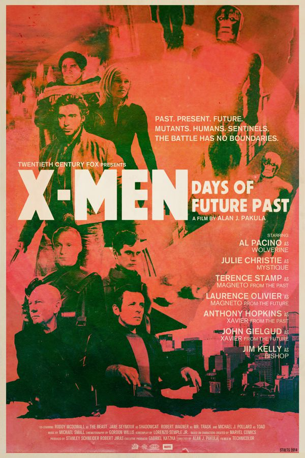 X-Men Days of Future Past alternative movie poster Peter Stults
