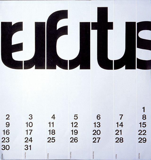 Wim Crouwel Calendar 1964