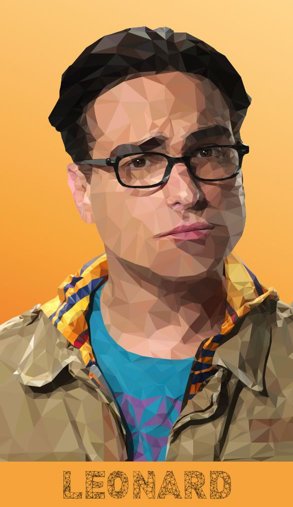 leonard big bang theory illustration