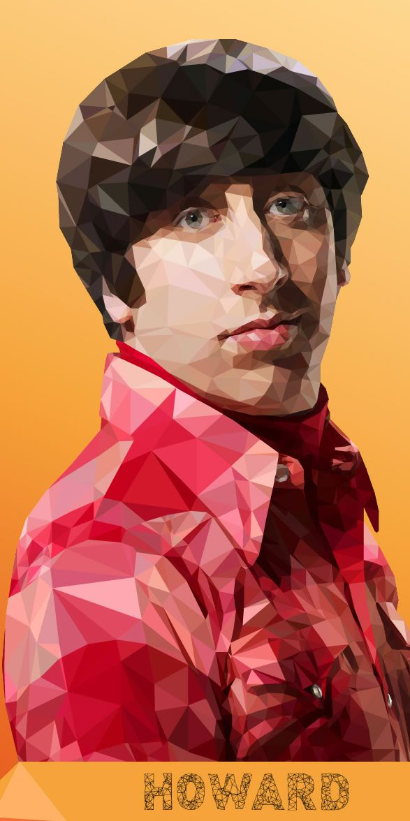 howard big bang theory geometric illustration