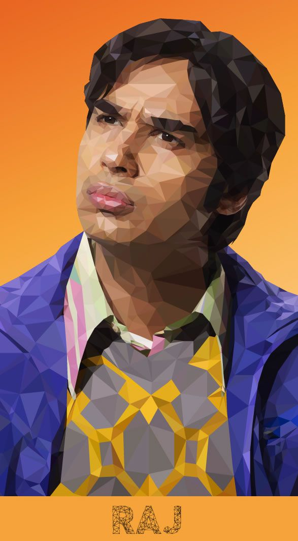 raj big bang theory illustration