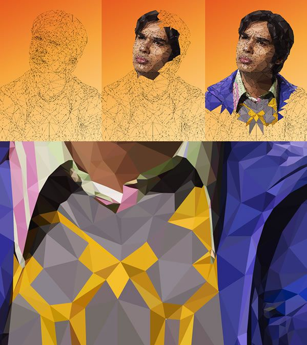raj making of big bang theory illustration