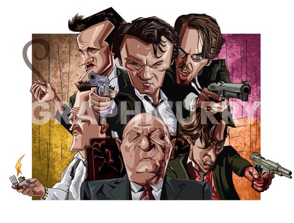 Reservoir Dogs tv movie caricatures cartoon humor