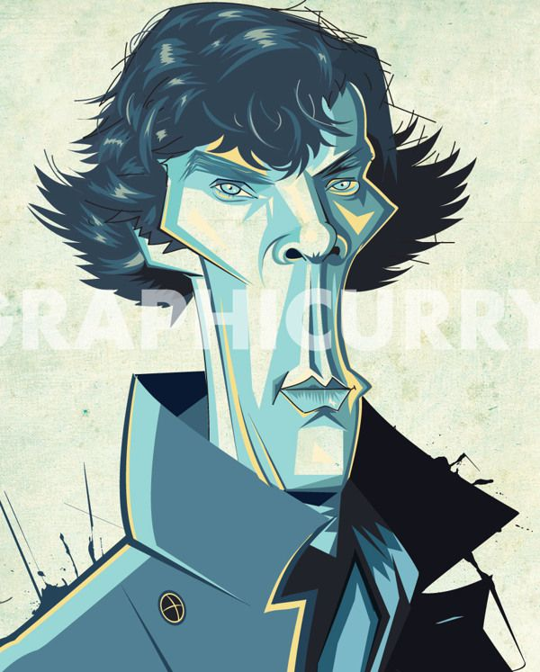 Sherlock Holmes tv movie caricatures cartoon humor