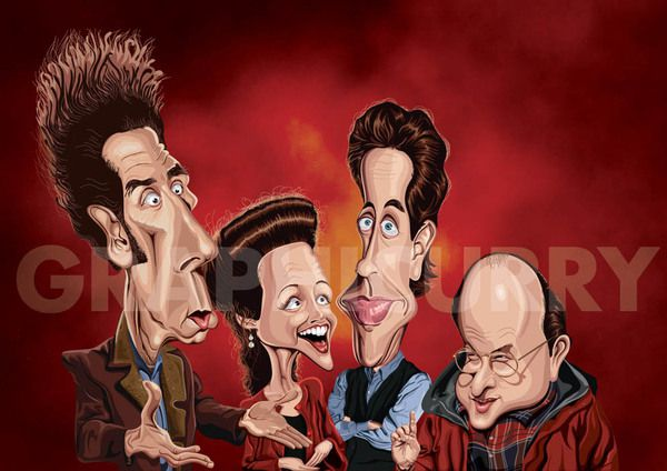Seinfeld tv movie  cartoon satrical humor