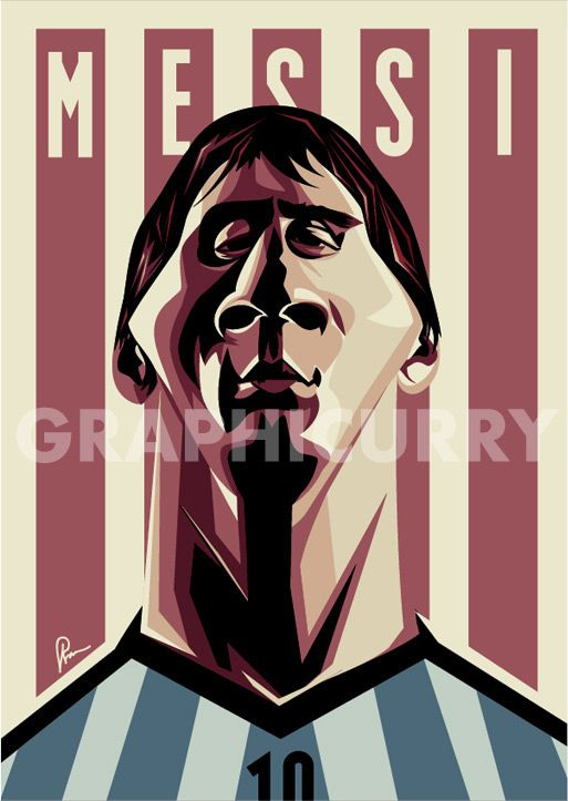 Lionel Messi football soccer caricature illustrated caricatures cartoon satrical humor