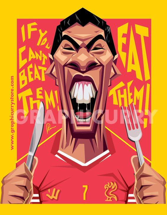 Luis Suarez football soccer cartoon satrical humor