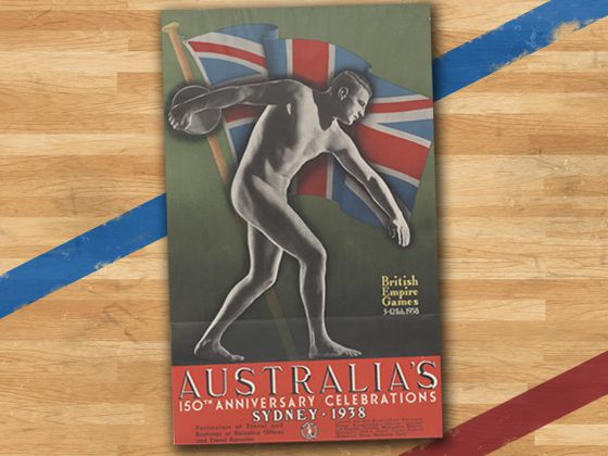 design evolution The official poster for the 1938 Commonwealth Games posters held in Sydney