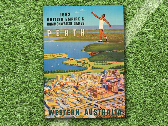 design evolution The Commonwealth starts to incorporate scenery into posters in 1962 Commonwealth Games posters