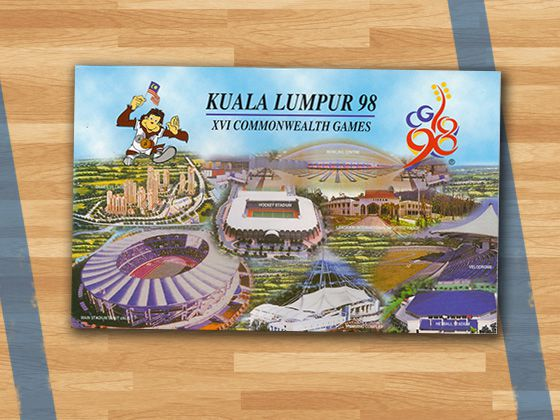 design evolution The Malaysian designed 1998 poster shows a variety of different venues for the games