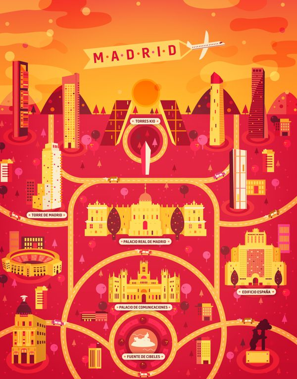 Madrid Aldo Crusher illustration metropolis geometry
