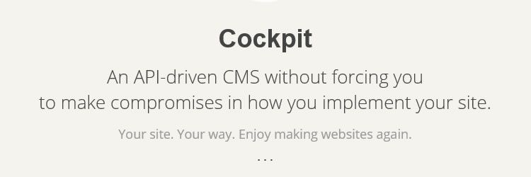 Add Content Management Functionality To Any Site with Cockpit