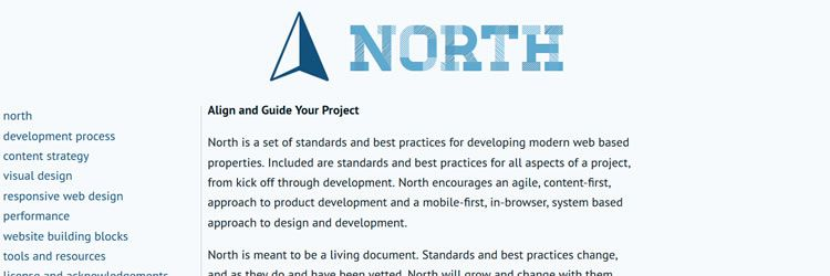 North - A Set of Standards & Best Practices for Developing Modern Web Based Properties