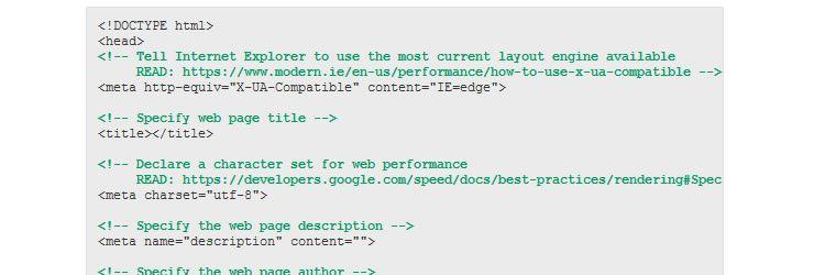 A Generic HTML5 Boilerplate template