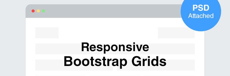 Responsive Bootstrap Grid Template psd