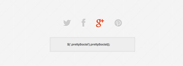jQuery prettySocial - A custom sharing button plugin