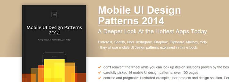 Free Ebook: Mobile UI Design Patterns 2014 by UXPin