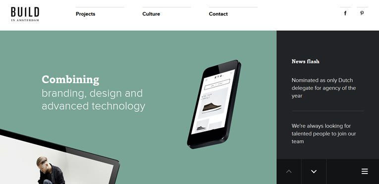 Build in Amsterdam flat responsive design site