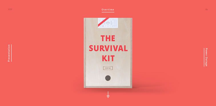 Agency Survival Kit example flat inspiration web design