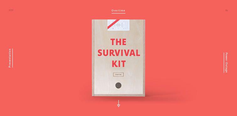 Agency Survival Kit example flat inspiration web design