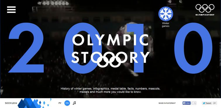 Olympic Story flat-style modern inspire web