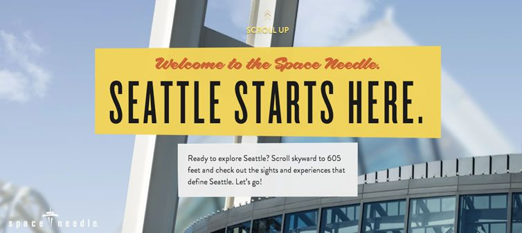 Space Needle flat responsive design site