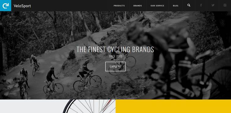 VeloSport flat responsive design site