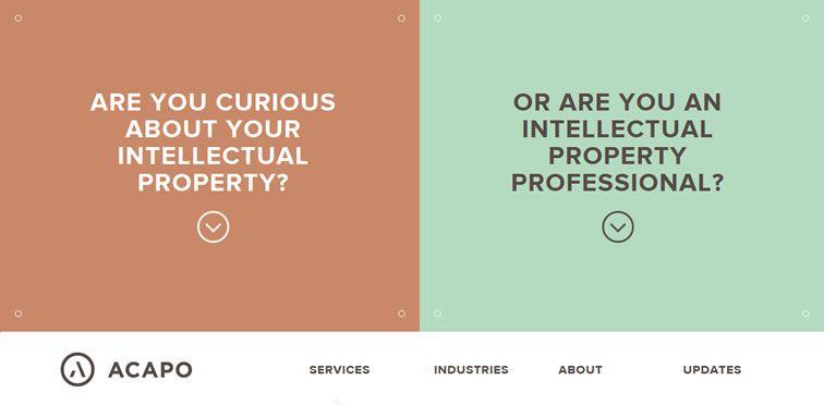 Acapo example flat inspiration web design