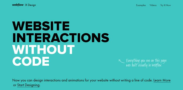 example flat inspiration web design