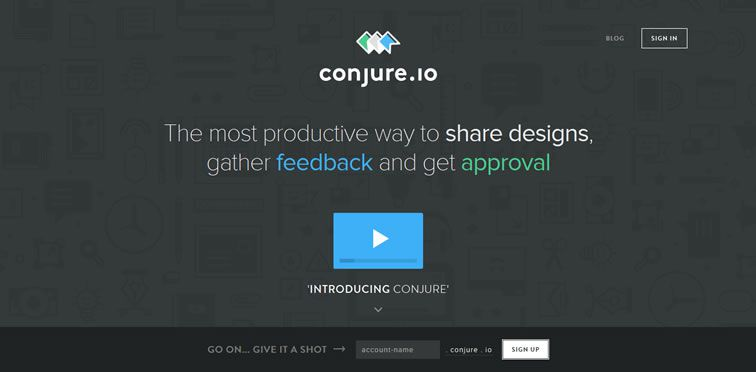 Conjure flat responsive design site