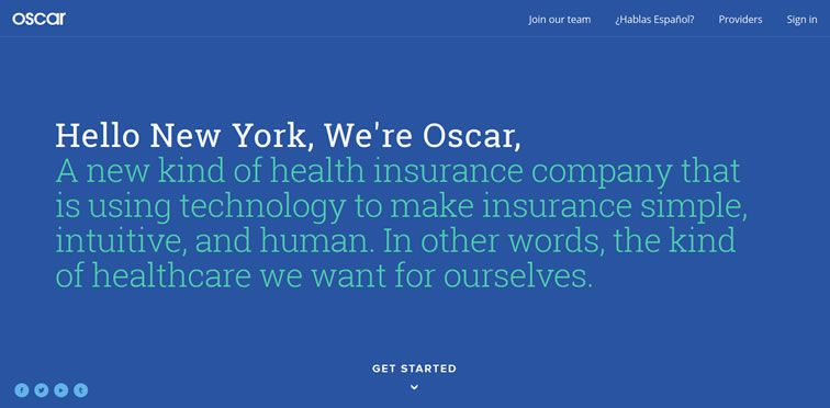 Oscar example flat inspiration web design