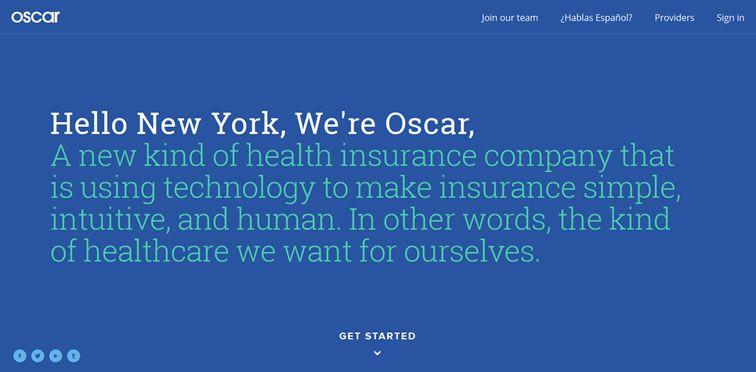 Oscar example flat inspiration web design