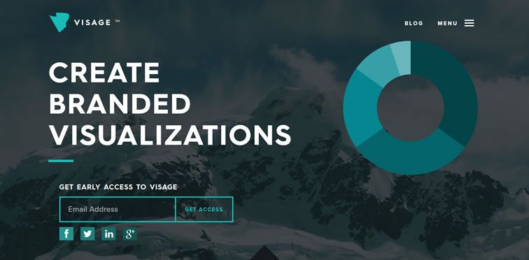 Visage flat web design trend inspiration
