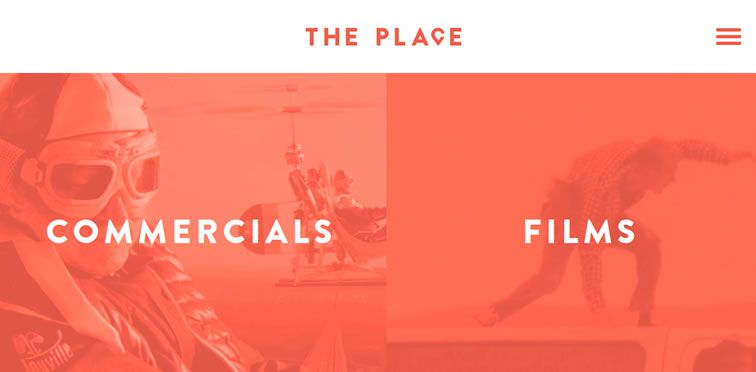 The Place example flat inspiration web design