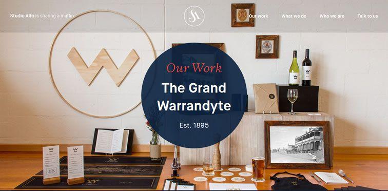 Studio Alto flat responsive design site