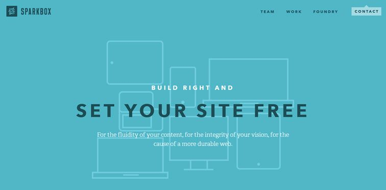 Sparkbox example flat inspiration web design