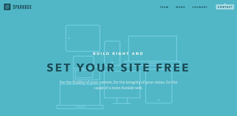 Sparkbox example flat inspiration web design