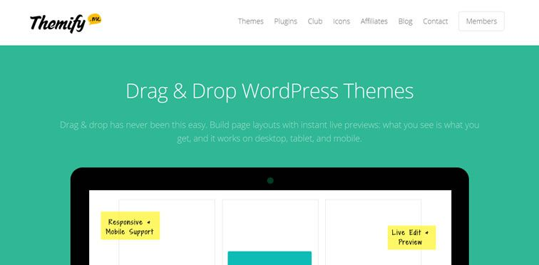 Themify flat web design trend inspiration