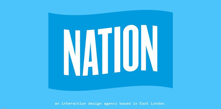 Nation example flat inspiration web design