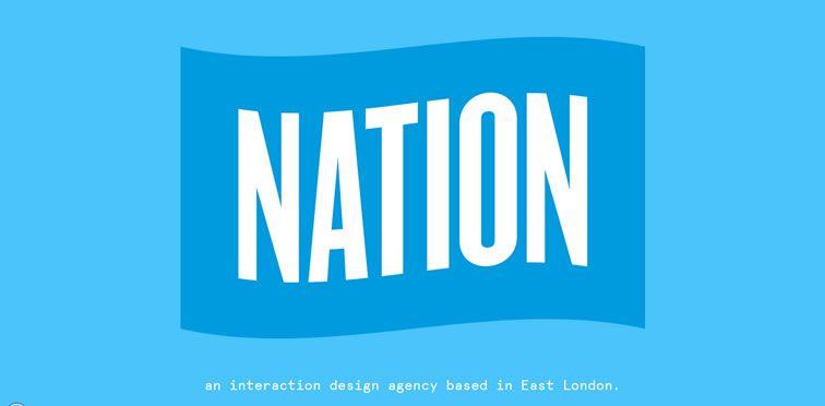 Nation example flat inspiration web design